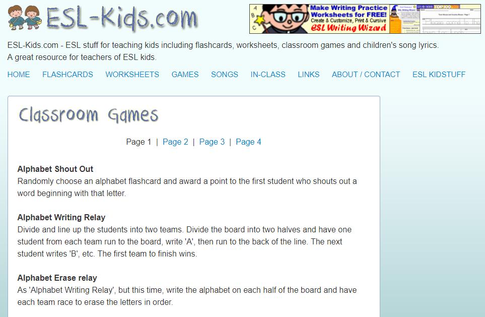 Op De Website Esl Kids Vind Je Kant En Klare Flitskaarten En Nog