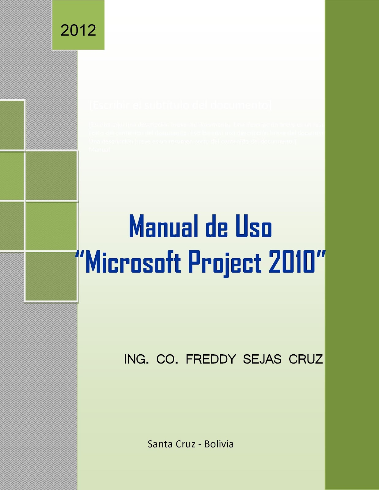 Manual de Uso Microsoft Project 2010