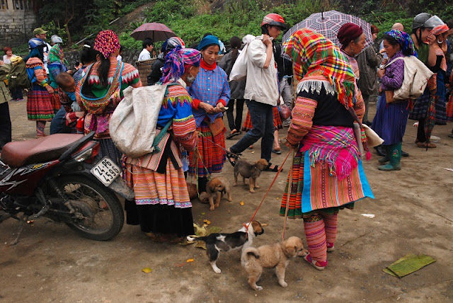 What special things happen at the Bac Ha highland market, Sapa? 1