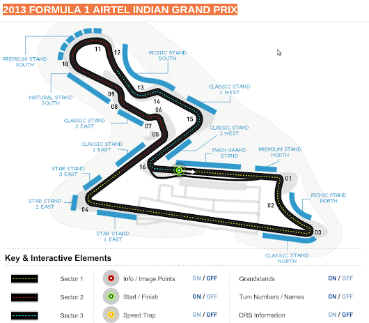 Formula One: Buddh International Circuit map India ~