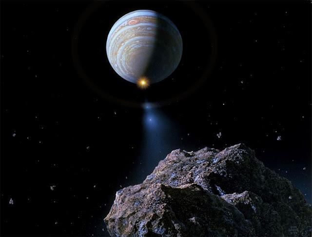 cometa em rota de colisão com Jupiter - Don Davis - Wikimedia Commons