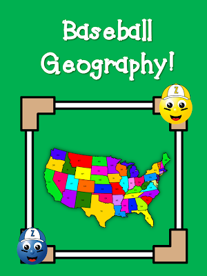 Baseball Geography! This post has several suggestions for squeezing in a little Geography practice in your morning letter, along with a favorite topic to grab their interest: baseball!