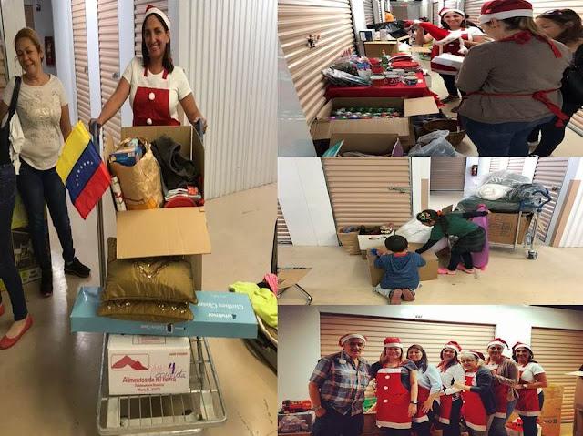 Venezolanos en situación de carestía recibieron decoraciones navideñas y los infantes juguetes en sur de Florida.