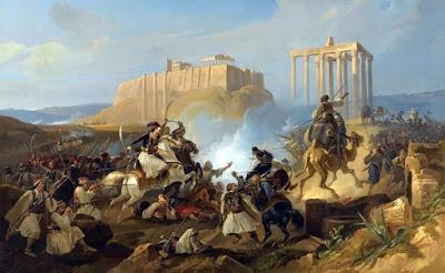Georg Perlman, Σκηνή μάχης Ελληνική Επανάσταση