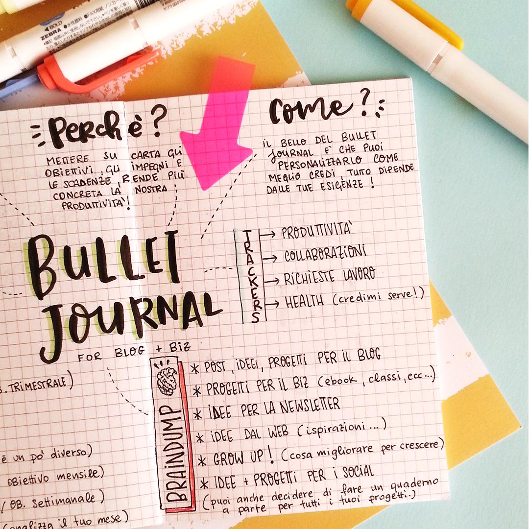 cos'è il bullet journal e come usarlo per aumentare la tua produttività