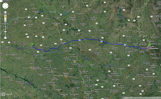 Trajeto detalhado Belo Horizonte/MG/Brasil a Itapagipe/MG/Brasil - 660 km.