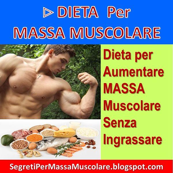 programma di dieta per mettere su massa muscolare