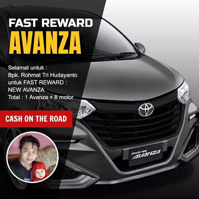 Fast Reward Mobil Pertama Dari Bisnis Online