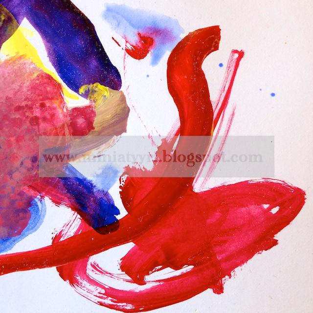 Yksityiskohta maalauksestani Intiassa - Detail of my painting in India