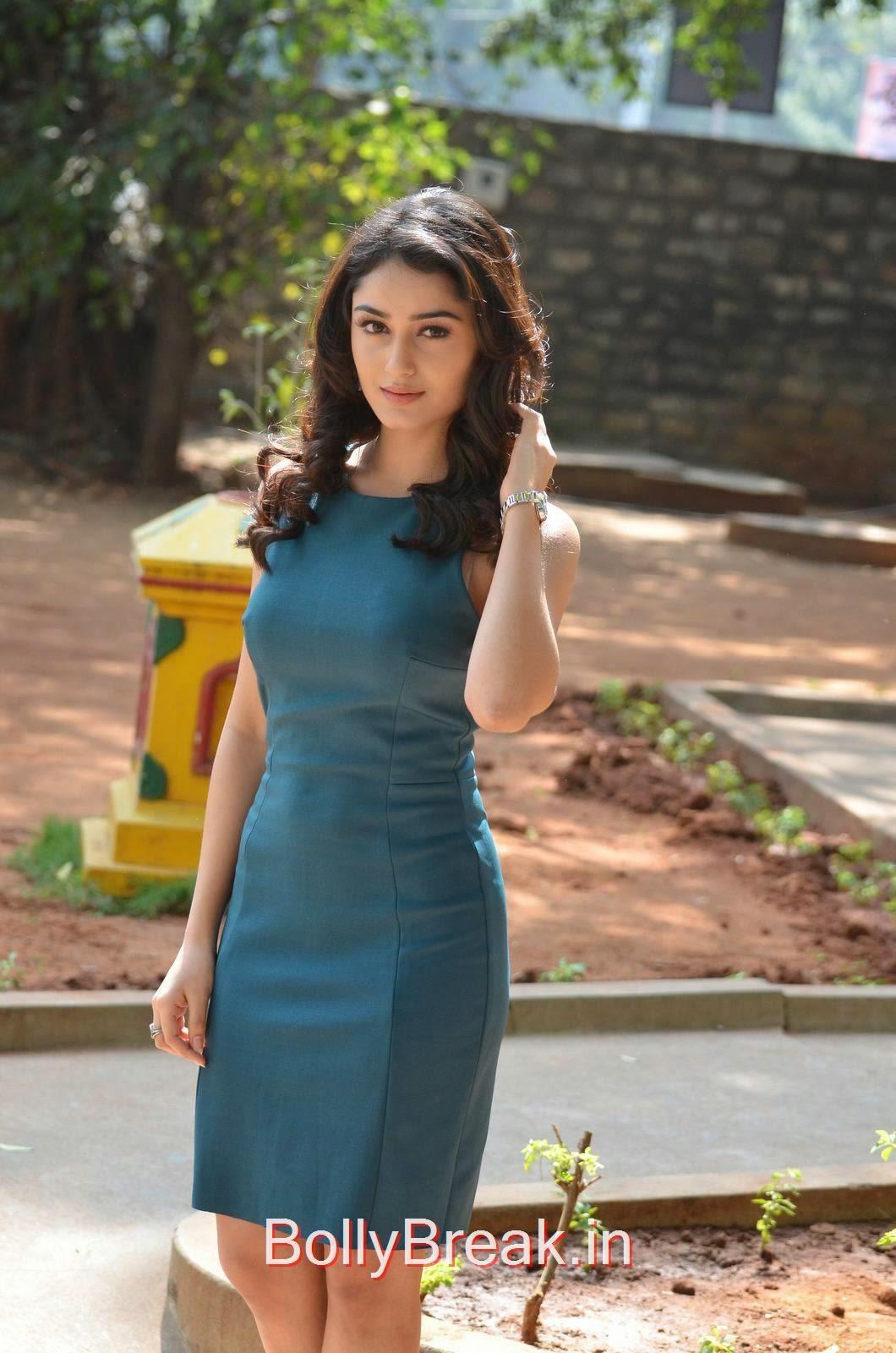 Tridha Choudhury Stills, Tridha Choudhury Hot Pics In Blue Dress