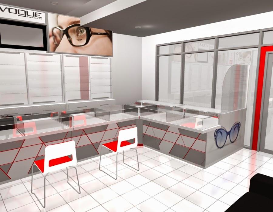 desain 3d Etalase Kacamata dan Interior Untuk Optik - Semarang 01