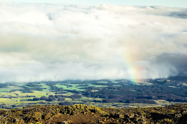 Haleakalā National Park rainbow and overlook