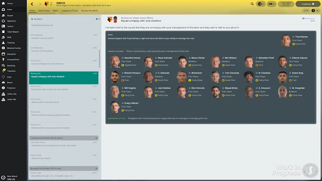 Social Group unhappy FM18