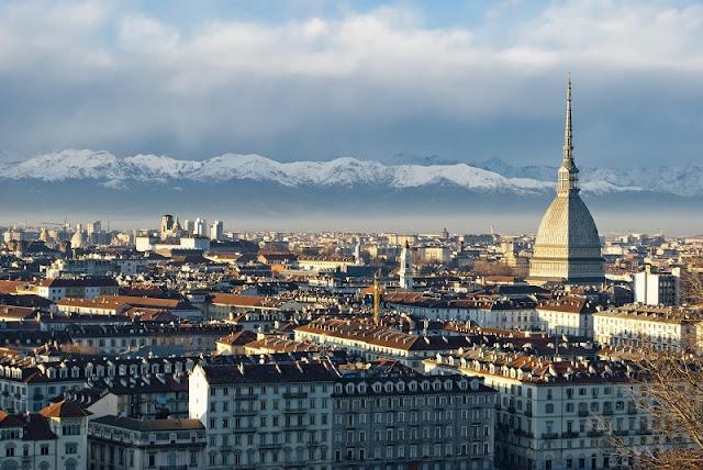 Vista da cidade de Turim na Itália