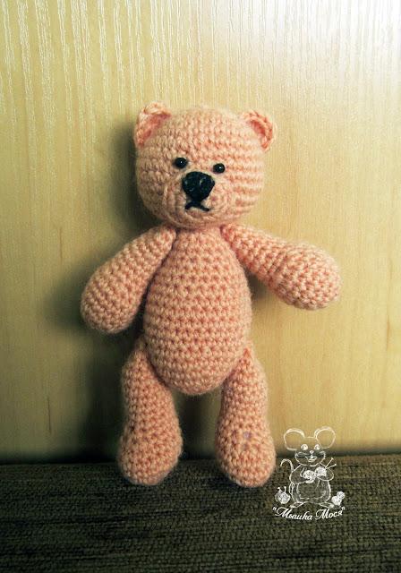 игрушка-мишка, вязаный медвежонок, аксессуары для фотосессии новорожденных, игрушка на заказ