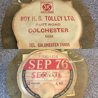 Roy H G Tolley Ltd tax disc holder