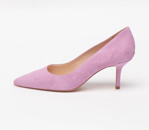 Liu Jo Pantofi dama eleganti lila de piele intoarsa cu varf ascutit
