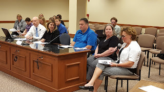 Parmenter Elementary School teachers at the School Committee meeting