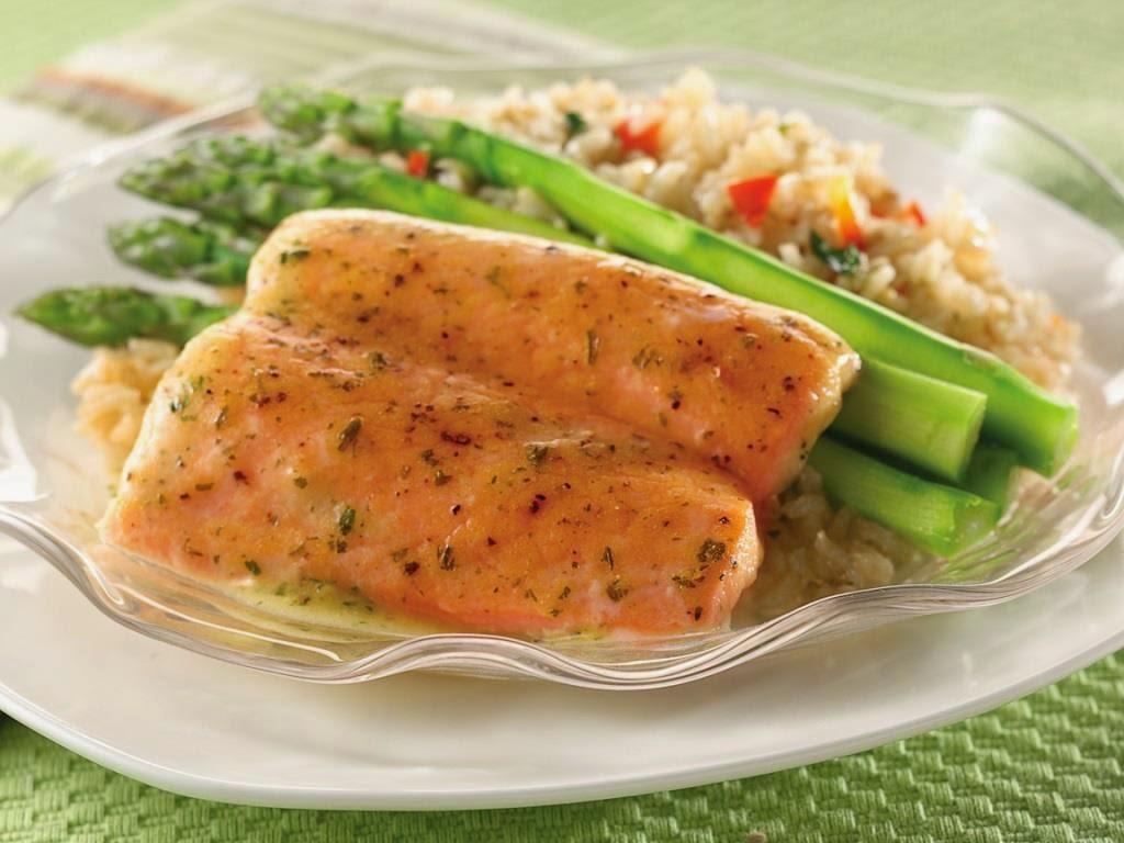 Gorton's Simply Salmon Asparagus Pilaf