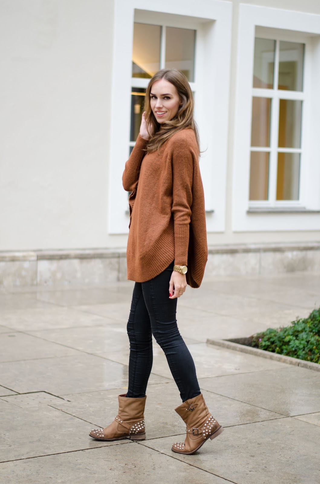 kristjaana mere roll neck jumper fall outfit look fashion