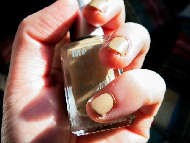Barry M Matte Nail Paint in Caramel NOTD