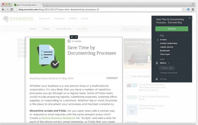 Evernote Web Clipper - 10 Add-ons Browser Terbaik