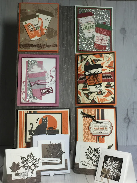 Projects we'll make Oct 8 at Stamped Sophisticates card class