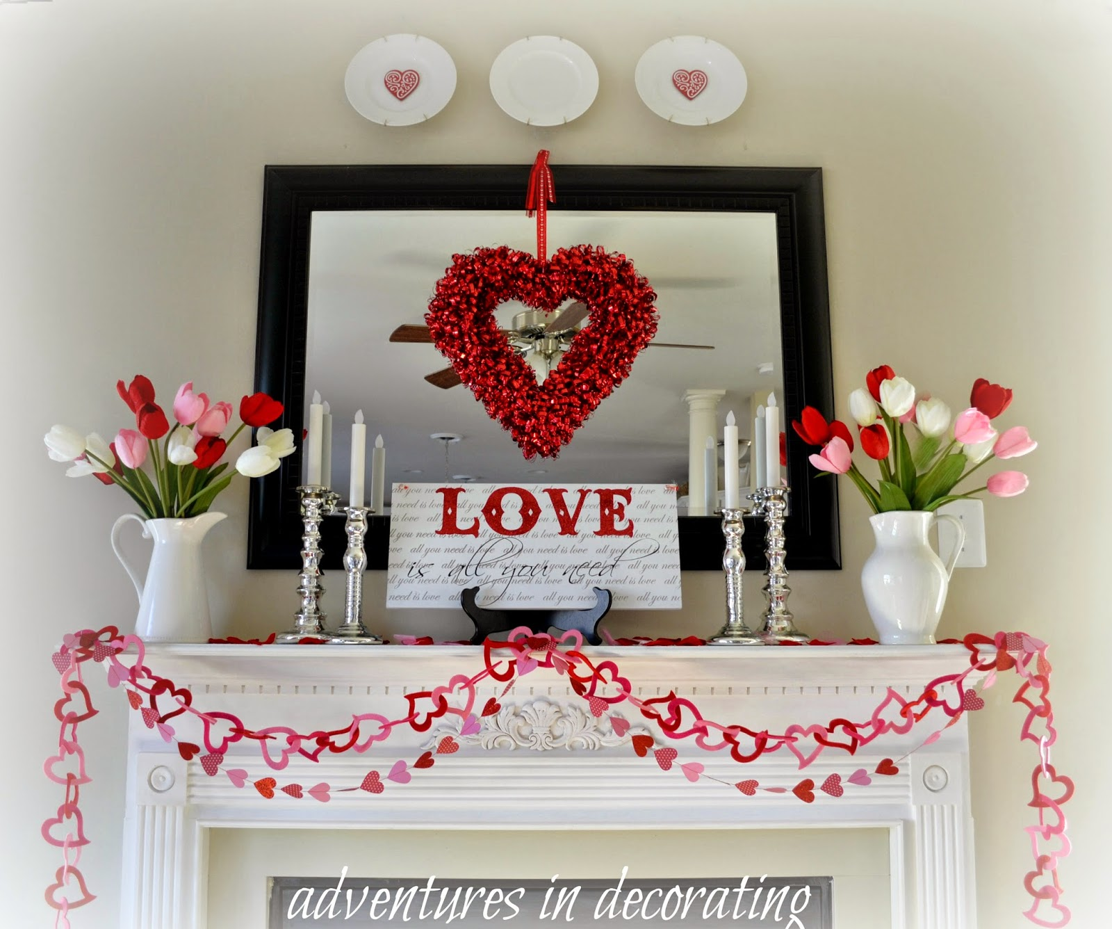 Valentine Home Decorations: Adventures In Decorating: 2015 Valentine Mantel/Heart And