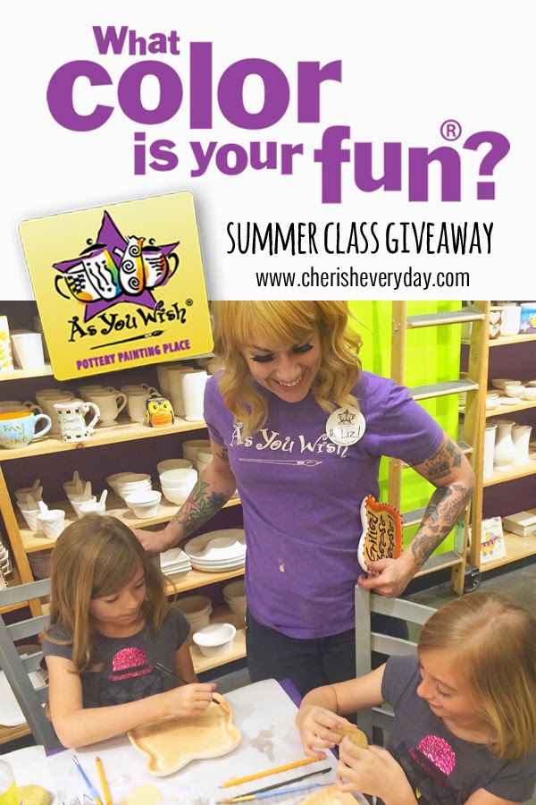 Cherish Everyday: As You Wish Pottery Summer Classes (giveaway)