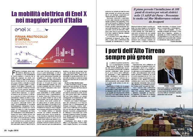 LUGLIO 2018 PAG 20 - La mobilità elettrica di Enel X nei maggiori porti d'Italia