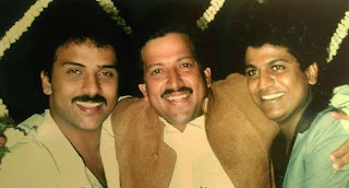 Vishnuvardhan with Ravichandran and Shivrajkumar
