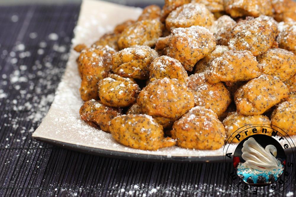 Beignets sucrés de patates douces au pavot
