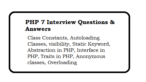 PHP 7 interview Questions and Answers