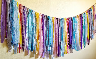 refabulous autumn catch-up post, part 2, eco friendly garland decor, boho fabric strip banner bunting
