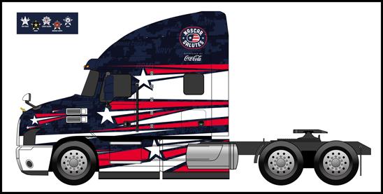 Mack Trucks NASCAR Hauler with custom wrap
