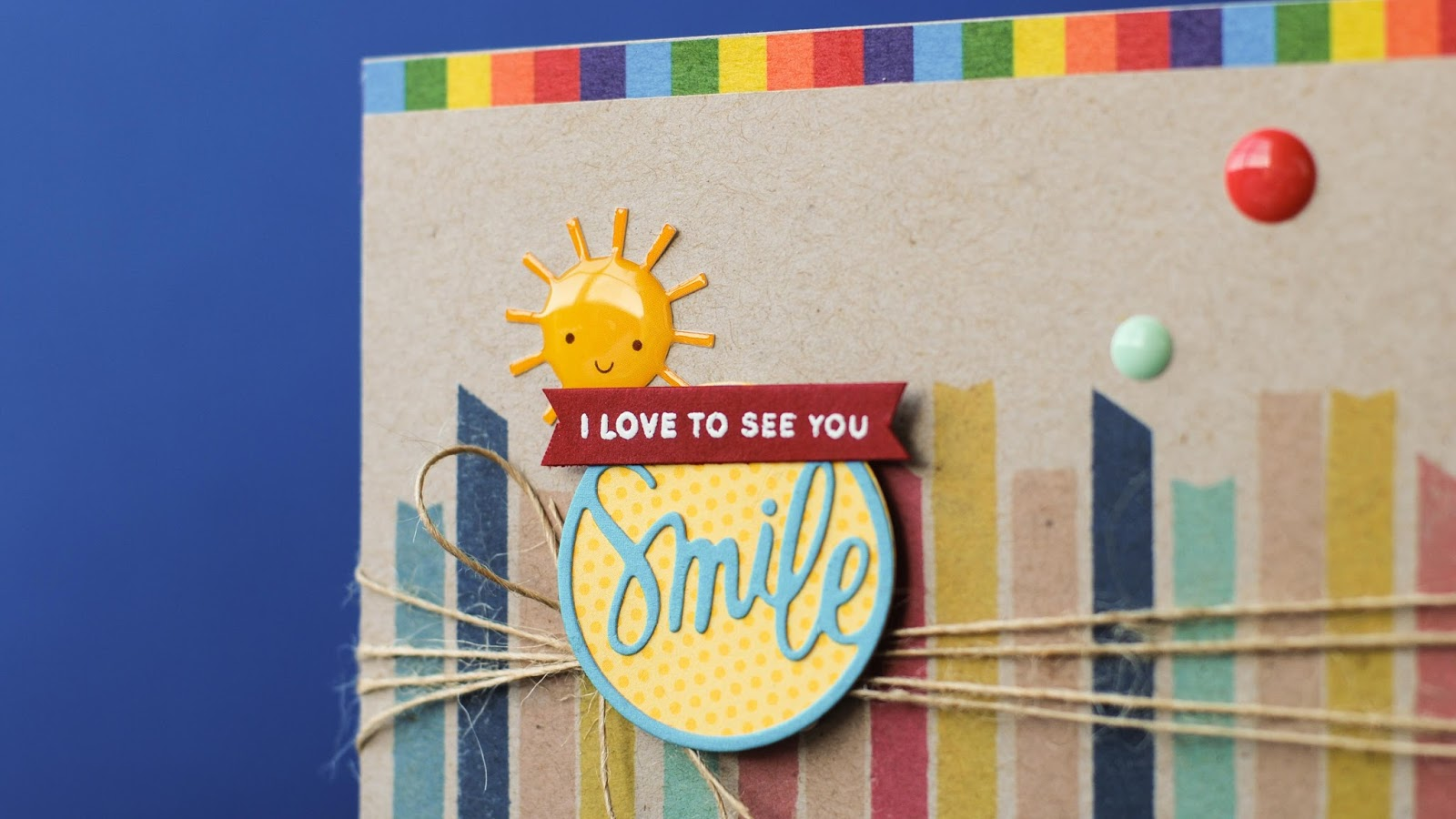 simon says stamp card kit june 2015 - detail with sentiment