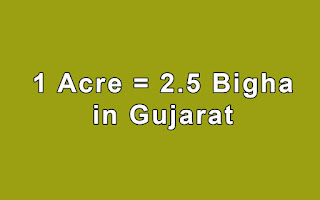 Acre to Bigha in Gujarat by Simple Calculator