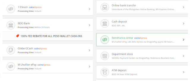 Miely is online: Coins.ph Cash in methods