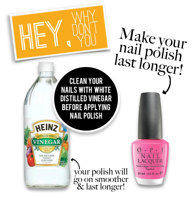 nail polish, diy, make it last longer, tanvii.com, vinegar, opi, essie