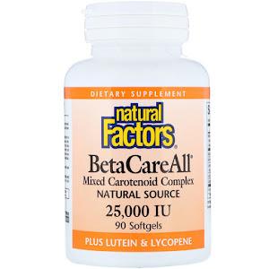 Natural Factors - BetaCareAll Mixed Carotenoid Complex