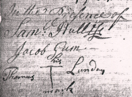 Signatures of Testators on the Original 1744 Will