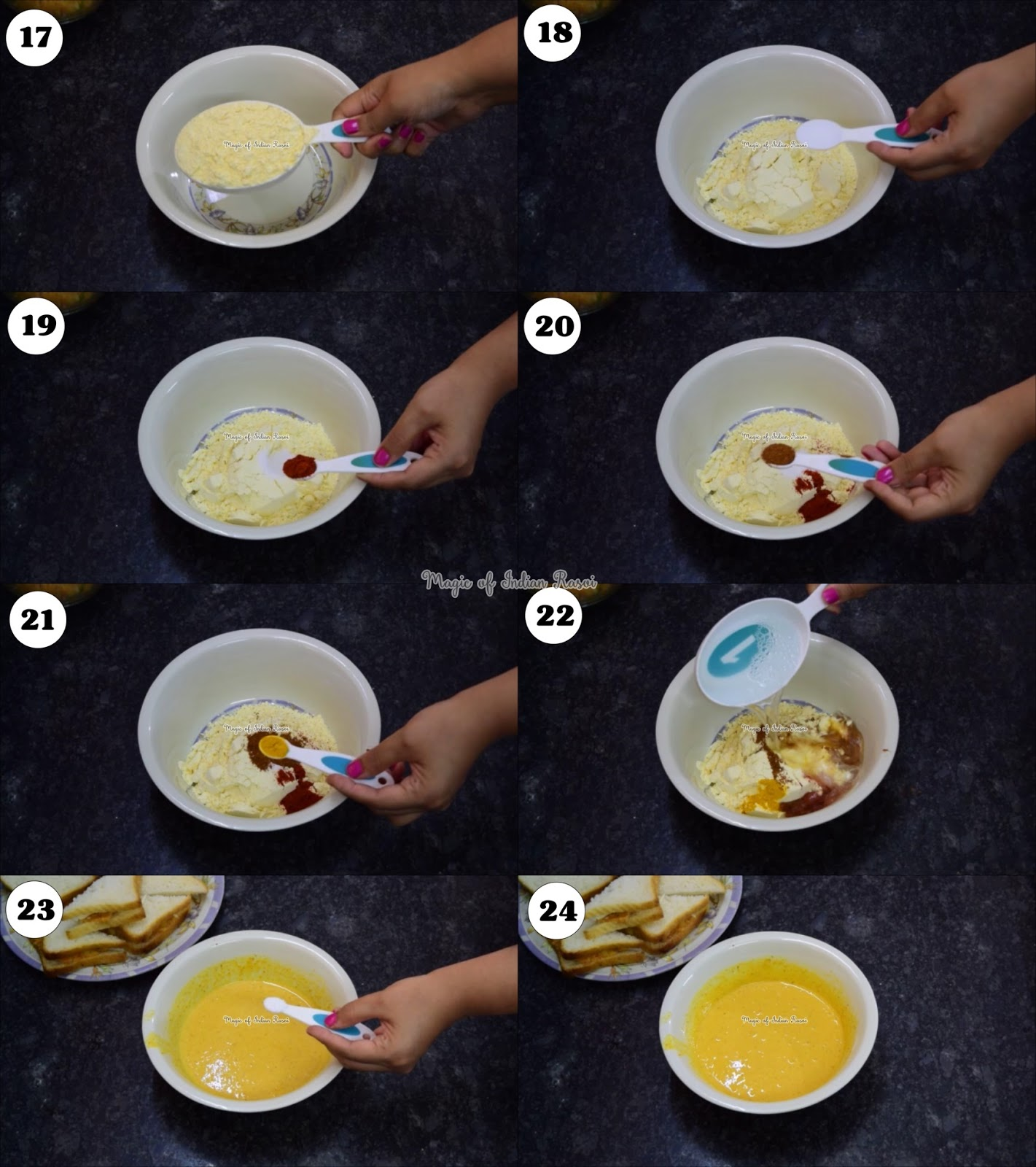Bread Paneer Pakora - Street Food Snack Recipe - ब्रेड पनीर पकोड़ा - स्ट्रीट फूड स्नैक्स रेसिपी - Priya R - Magic of Indian Rasoi
