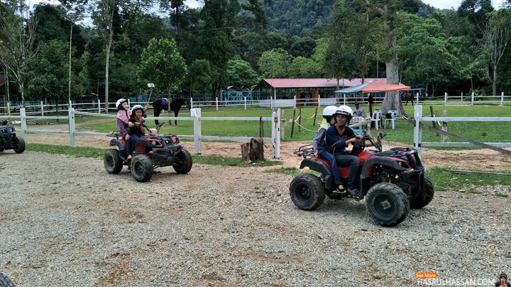 Aktiviti Menaiki ATV Disiniland Agrofarm and Resort, Batu Kurau