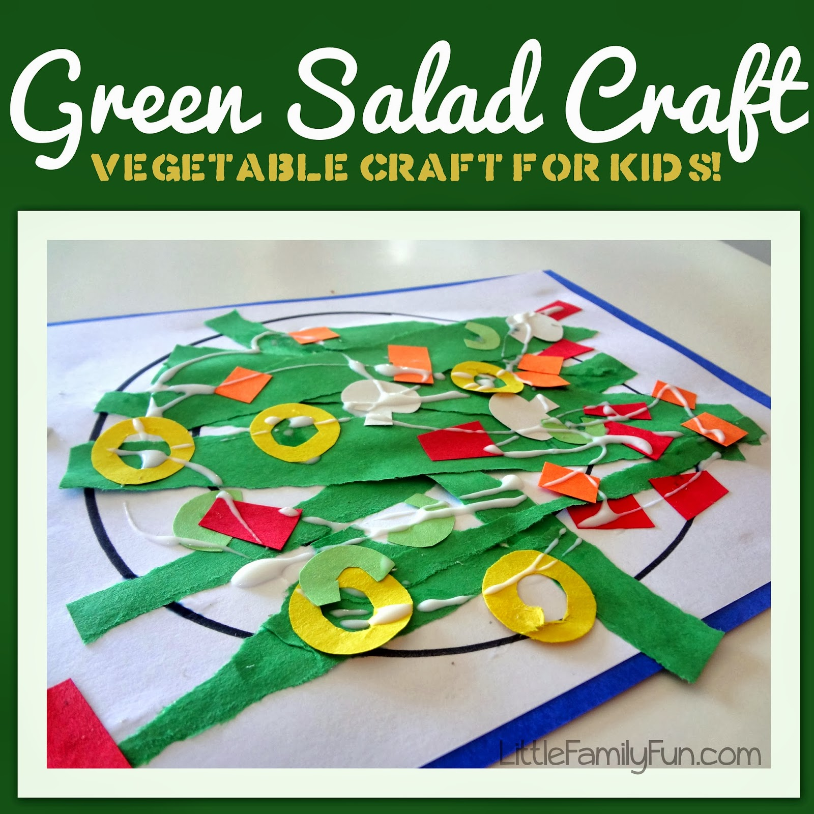 Little Family Fun Green Salad Craft