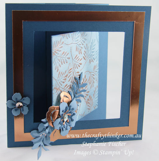 Stampin Up, #thecraftythinker, #CrazyCraftersBlogHop, Botanical Builder, Fancy Frost DSP, Swing Fold, Stampin Up Australia Demonstrator, Stephanie Fischer, Sydney NSW