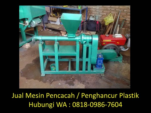 mesin pencacah plastik daun di bandung