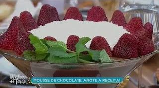 Aprenda a preparar deliciosa receita de mousse de chocolate