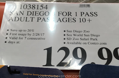 Deal for the San Diego 2016 3-for-1 Pass at Costco