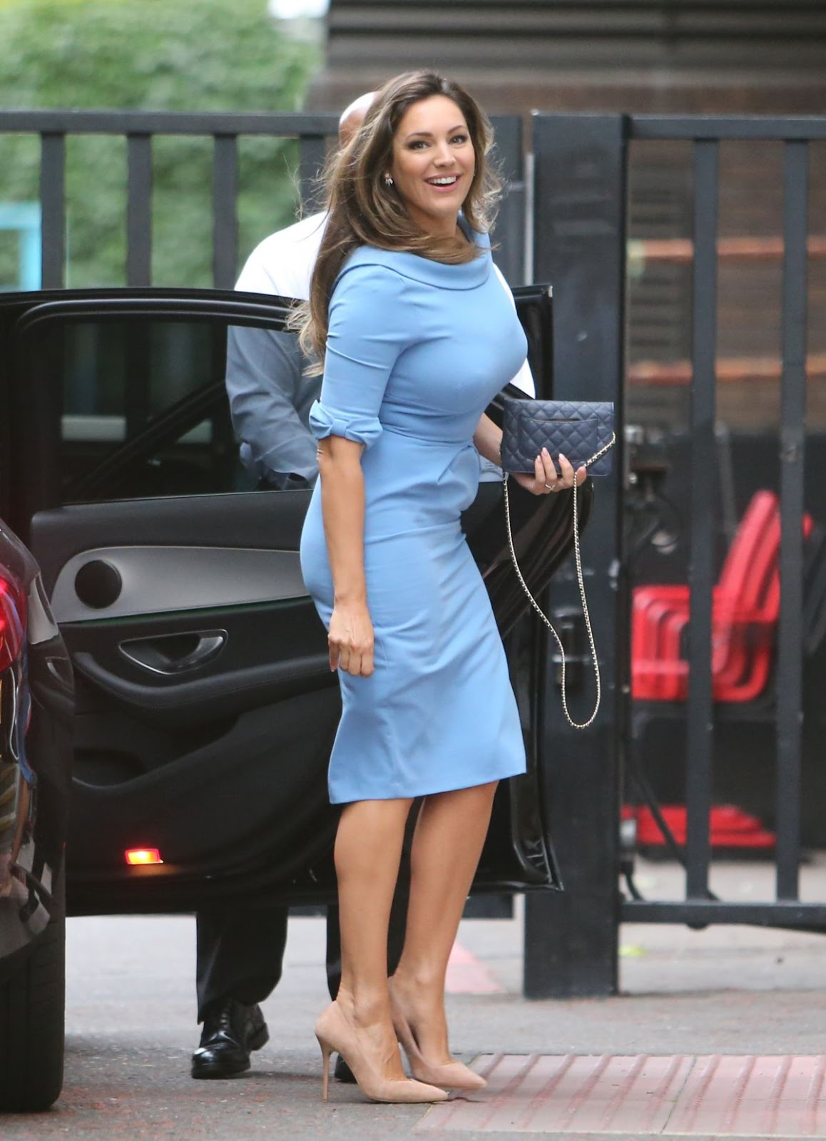 Kelly Brook Arrives at ITV Studios in London