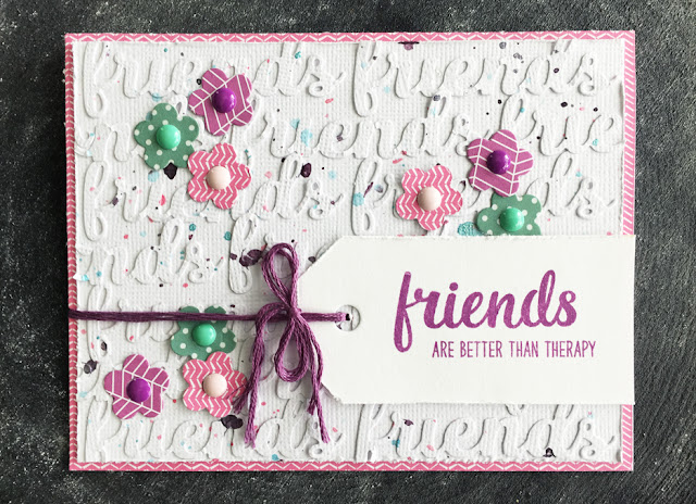 Sunny Studio Stamps: Friends & Family Die-cut Flower Card by Laura Vegas